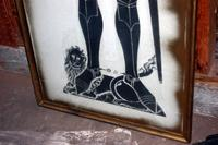 Silhouette Figure of a Medieval Knight