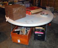 5' Diameter Lifetime Brand Plastic Folding Table