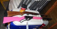 2 BB Air Rifles Including Pink Daisy Model 1998 with Large Container of BB's