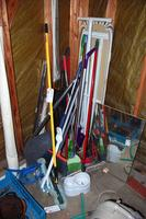 Brooms, Mops, Ironing Boards and Other Assorted Home Cleaning Supplies