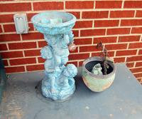 Bird Bath and Urn