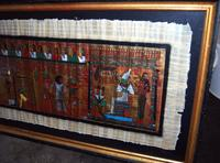 Framed Egpytian Painting on Papyrus