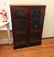 Mid-Century Wood Cabinet with Veneer Trim