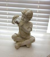 Lamp Figurine of Child Playing with Fireflies