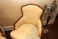 Pair of Wingback Slipper Chairs