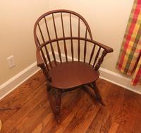 Solid Wood Round Back Rocking Chair