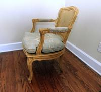 Cane Back Upholstered Chair