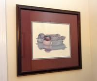 Pair of Framed Duck Prints by Richard Sloane