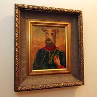 Framed Portrait of Dog