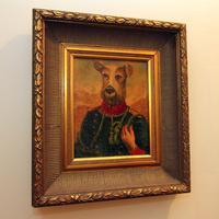 Framed Portrait of Dog
