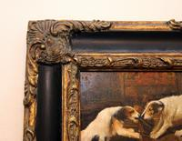 Framed Painting of Dogs