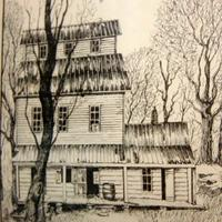 """Readyville Mill"", Harvey Kellog Framed and Numbered Print"