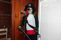 Skeleton Pirate Halloween Decoration