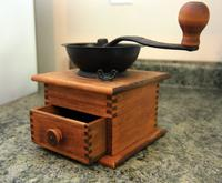 Wood and Cast Iron Coffee Grinder