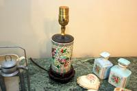 Railroach Lamp Picture Frame, Oriental Lamp, and Jars