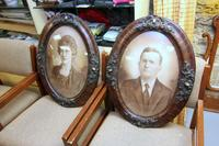 Framed Pair of Portraits of a Man and a Woman