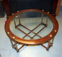 Circular Table with Glass Top