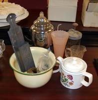 Teapots, Pitches, Cup, and Other Assorted Items