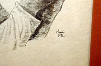 Framed Drawing of Elderly Man by Joni Eareckson