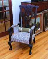 Antique Chippendale Style Armchair