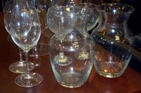 Glasses, Decanters and Hurricane Candle Covers