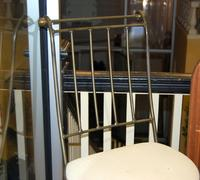 Metal Barstool with Uphostered Seat