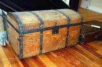 Antique Wood Steamer Trunk