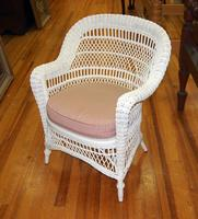 Wicker Chair with Seat Cushion